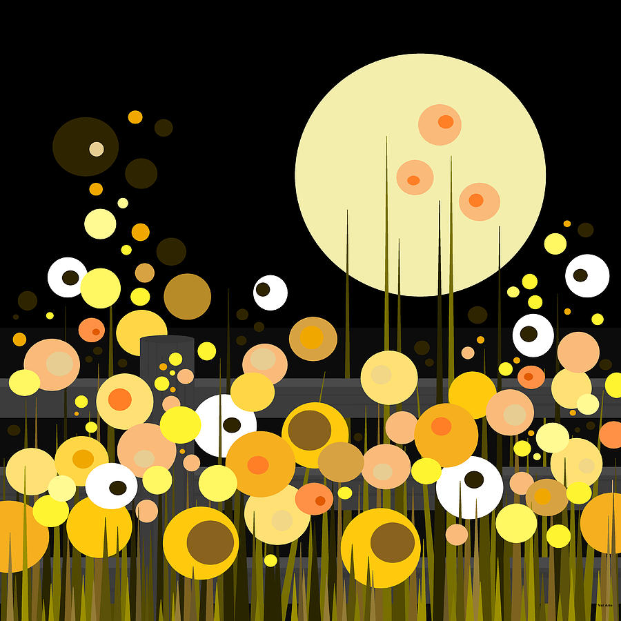 Night Blooming Flowers Digital Art