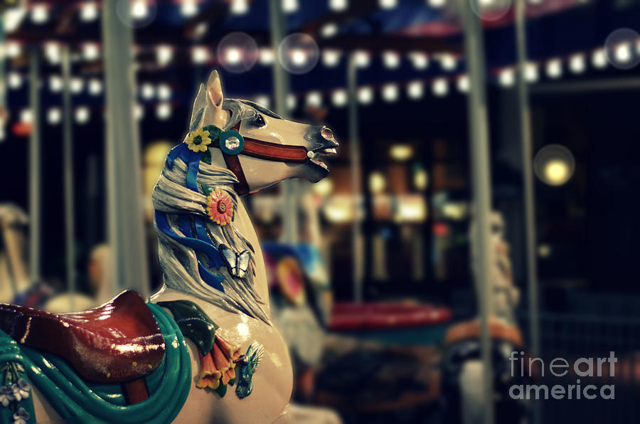 Night Carousel Photograph