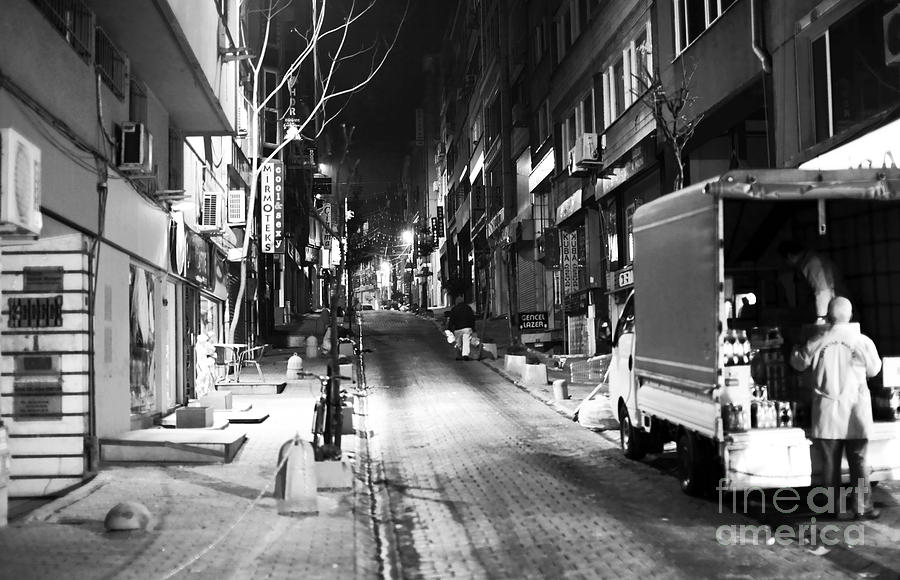 Night Delivery In Istanbul Photograph