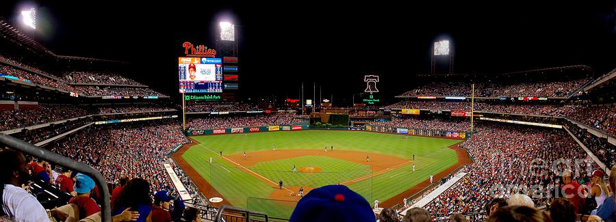 Night Game At The Phillies Photograph  - Night Game At The Phillies Fine Art Print