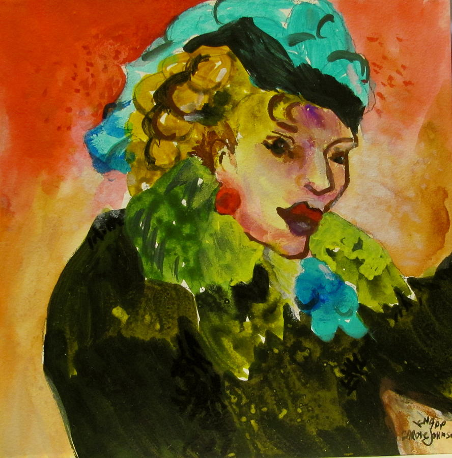 Night Lady Ruby Painting  - Night Lady Ruby Fine Art Print