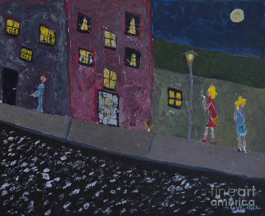 Night Moths Painting