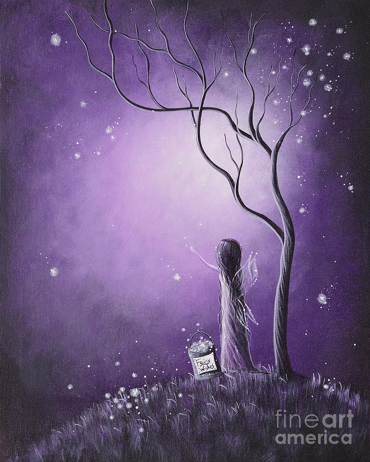 Night Of The Fairies By Shawna Erback Painting