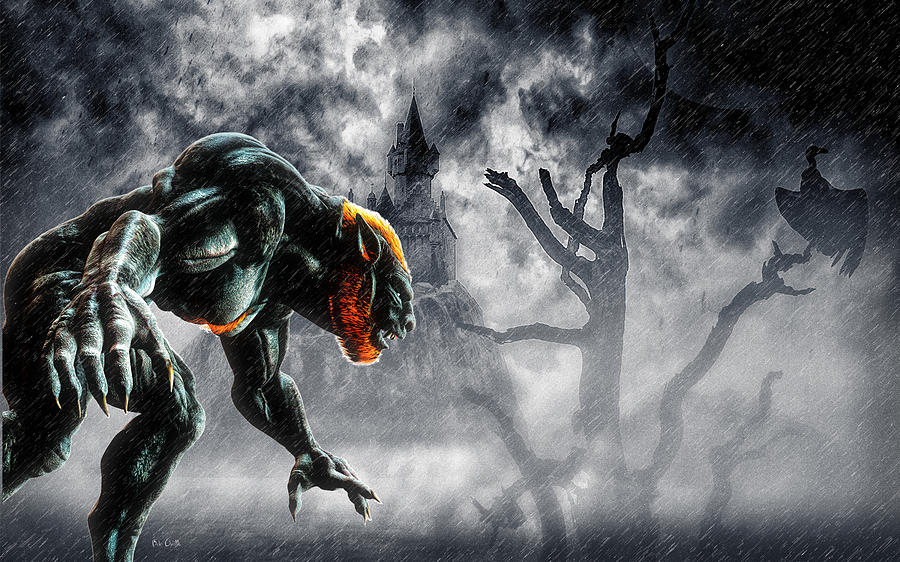 Lycan Digital Art - Night Of The Lycan by Bob Orsillo