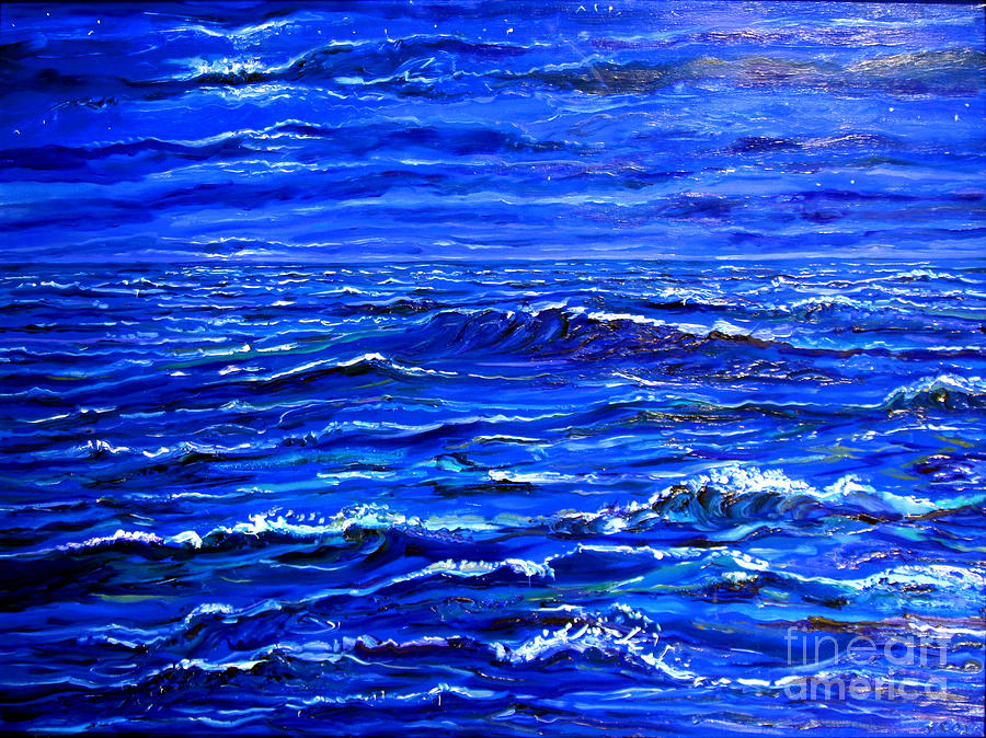 Night Sea Painting