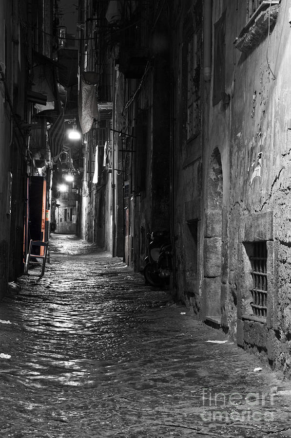 Naples Photograph - Night-time by Marion Galt