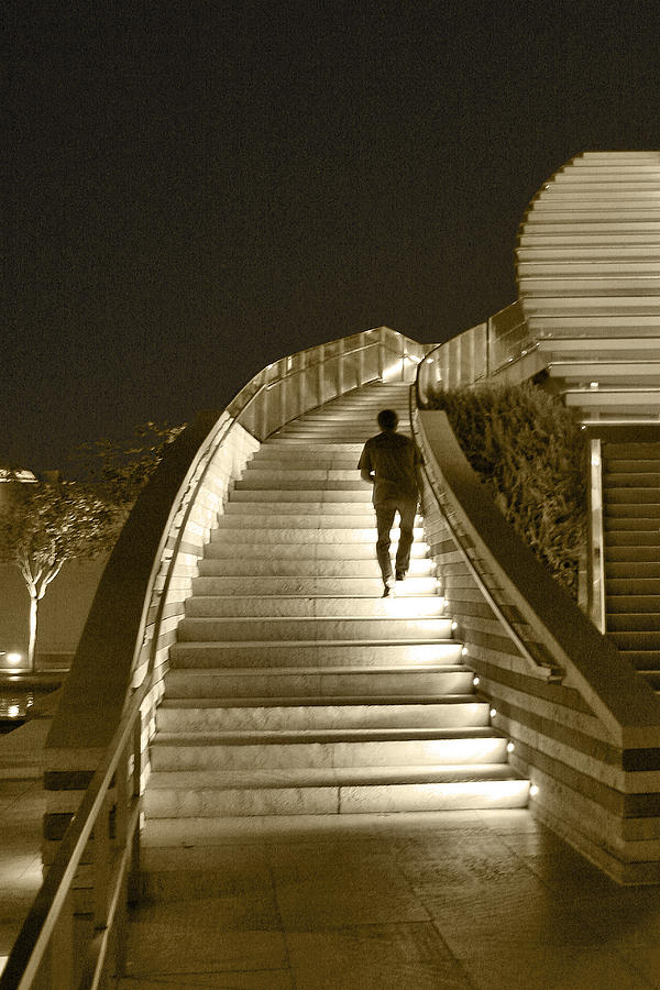 Night Time Stairway Photograph