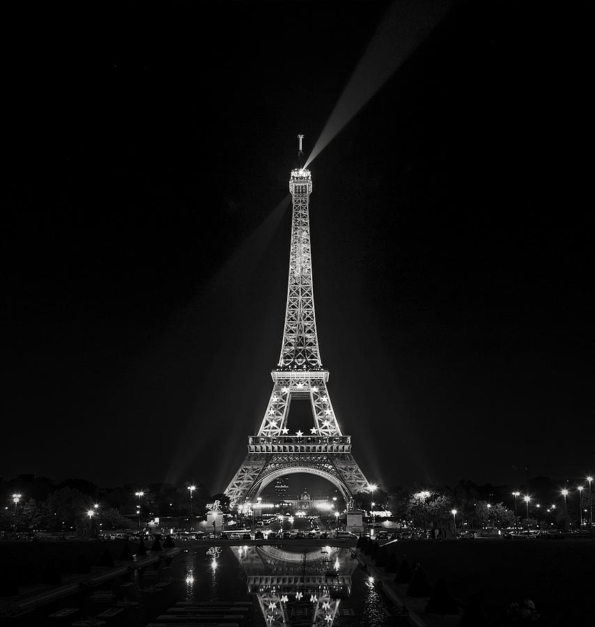 Night View Over The Eiffel Tower Photograph