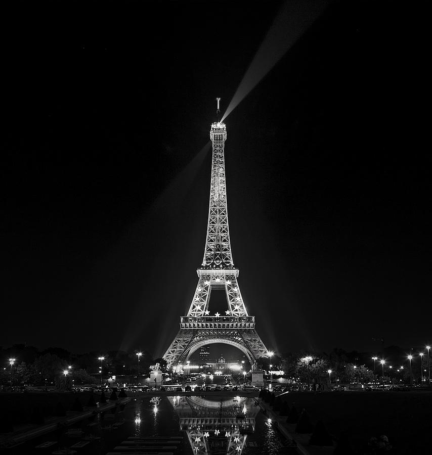 Night Photograph - Night View Over The Eiffel Tower by Antonio Jorge Nunes