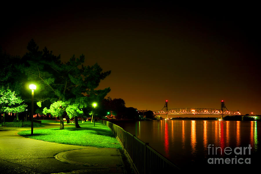 Nightime Promenade Photograph  - Nightime Promenade Fine Art Print