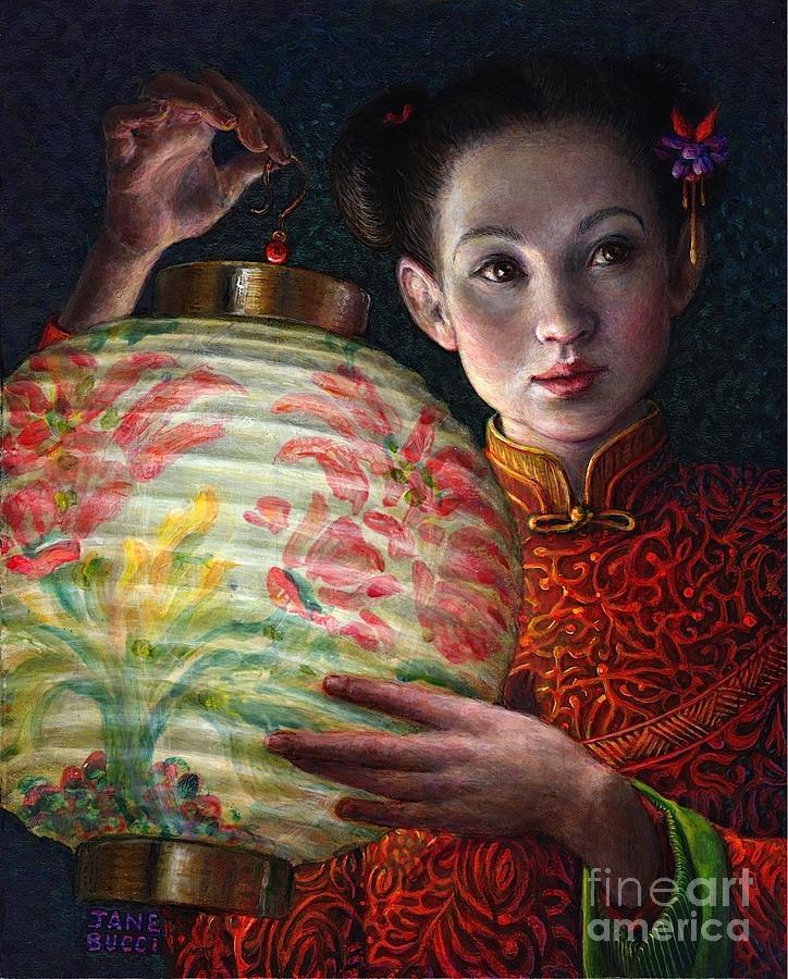 Girl Painting - Nightingale Girl by Jane Bucci