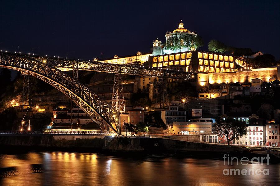Nighttime In Porto Photograph - Nighttime In Porto by John Rizzuto