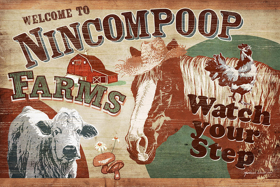 Nincompoop Farms Painting  - Nincompoop Farms Fine Art Print