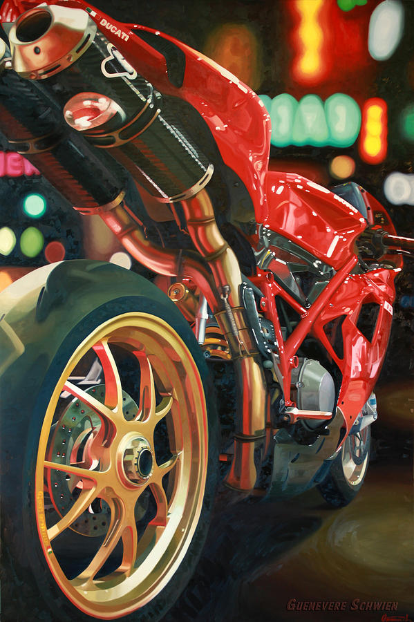 Nine Foot Ducati Painting  - Nine Foot Ducati Fine Art Print
