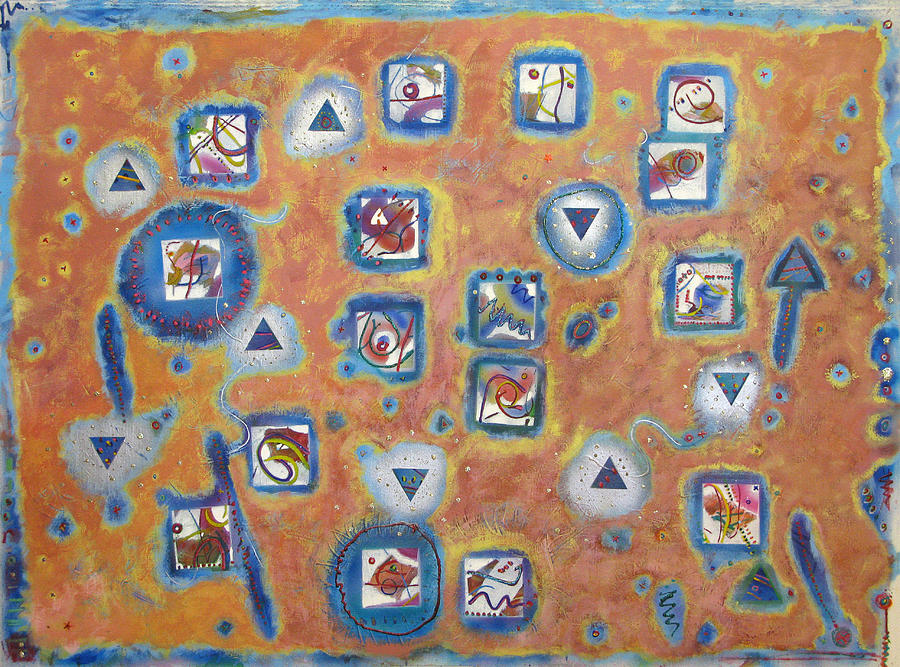 Nine Triangles Sixteen Squares Painting