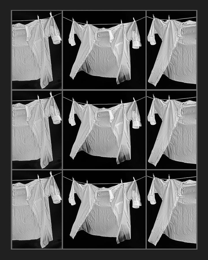 Nine White Shirt Photo Digital Art - Nine White Shirts by Susan Stone