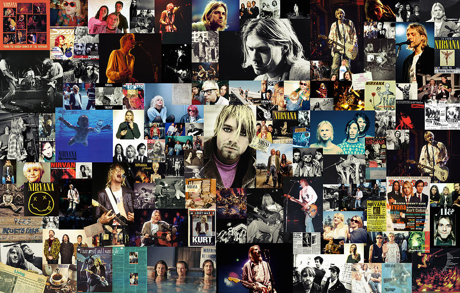 Nirvana Collage Digital Art