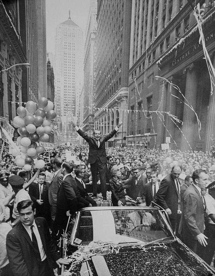 Nixon 1968 Presidential Campaign Photograph