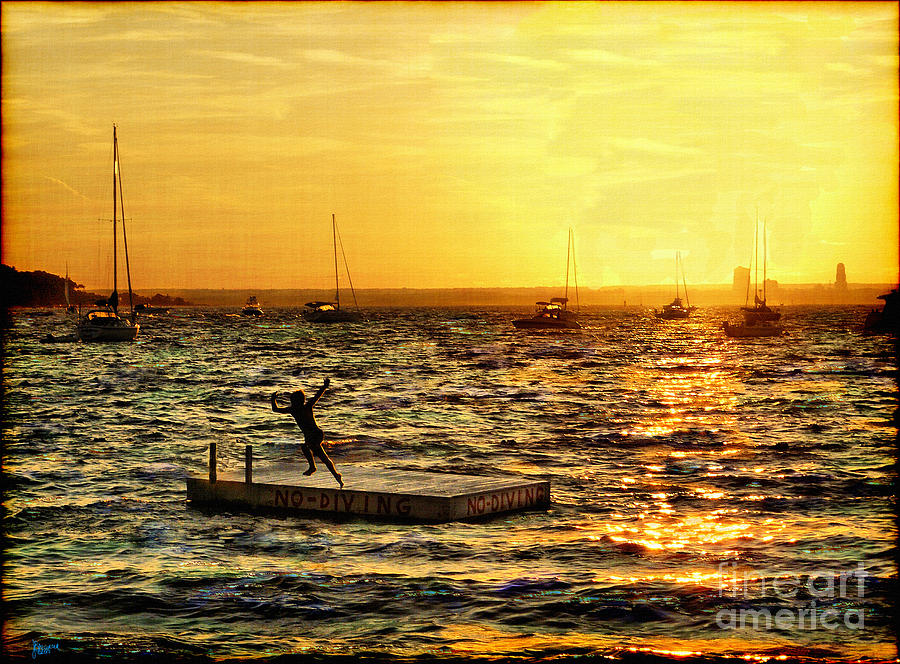 Boats Photograph - No Diving by Jeff Breiman