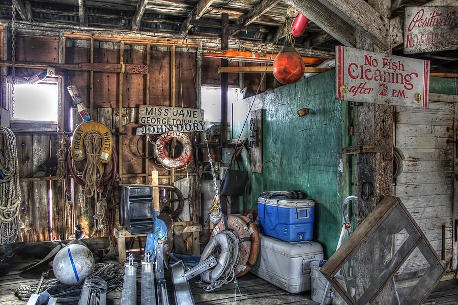 Fish House Photograph - No Fish Cleaning by Lynn Jordan