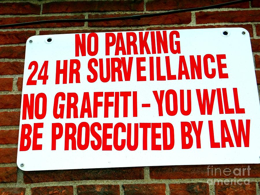 No Graffiti Photograph  - No Graffiti Fine Art Print