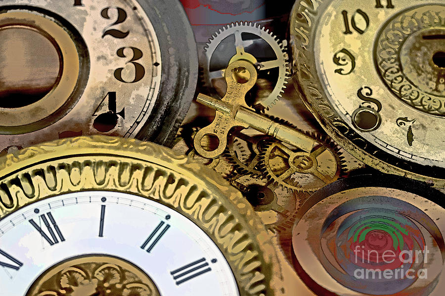 Clock Photograph - No More Time by Tom Gari Gallery-Three-Photography