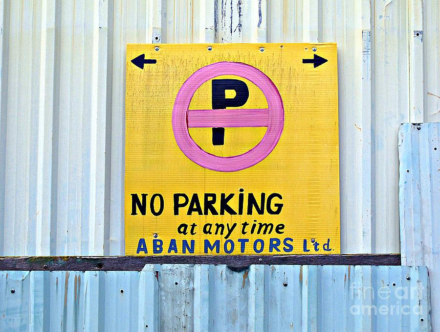 No Parking Photograph