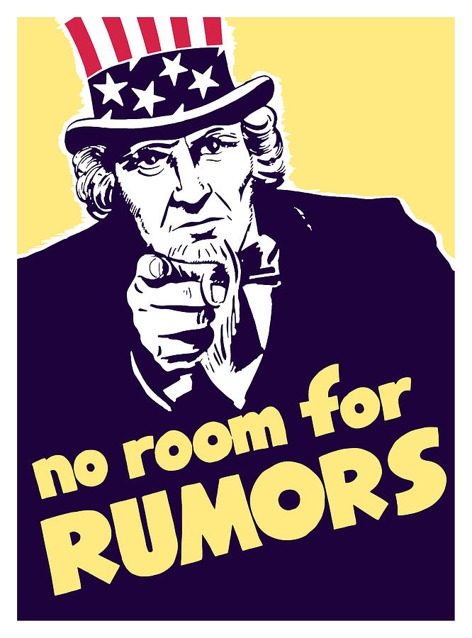 No Room For Rumors Uncle Sam Painting  - No Room For Rumors Uncle Sam Fine Art Print