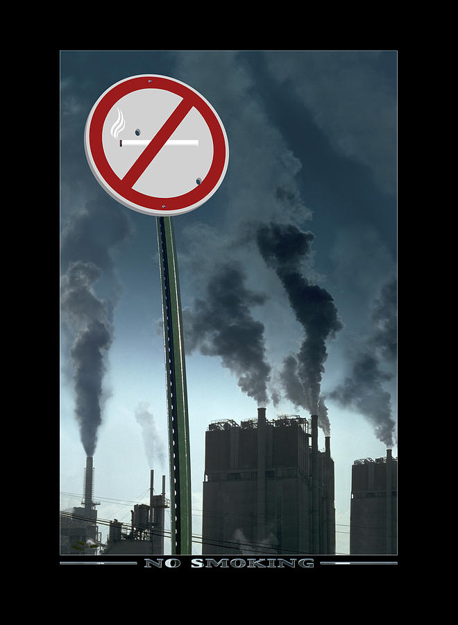 Smog Photograph - No Smoking by Mike McGlothlen