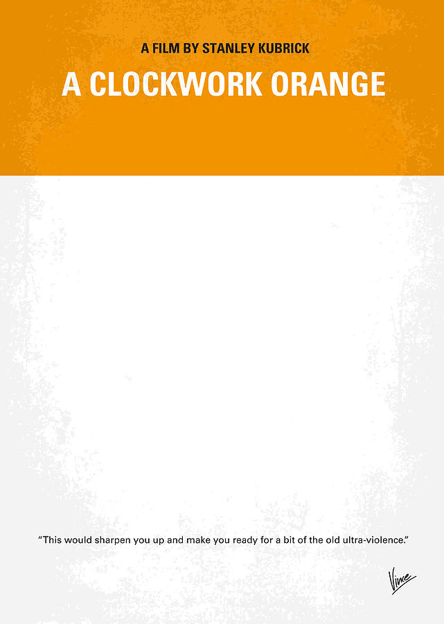 No002 My A Clockwork Orange Minimal Movie Poster Photograph