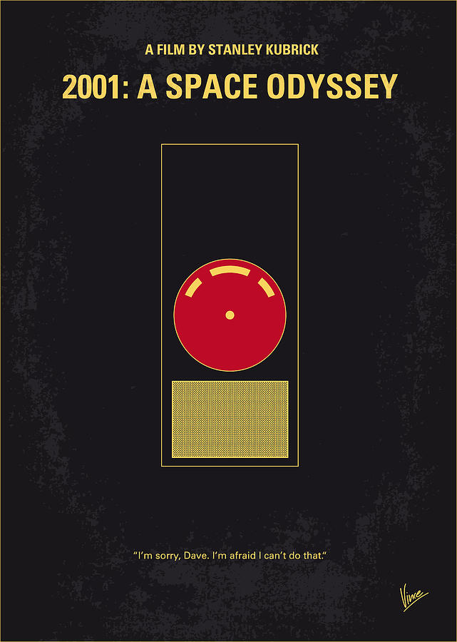 No003 My 2001 A Space Odyssey 2000 Minimal Movie Poster Digital Art  - No003 My 2001 A Space Odyssey 2000 Minimal Movie Poster Fine Art Print