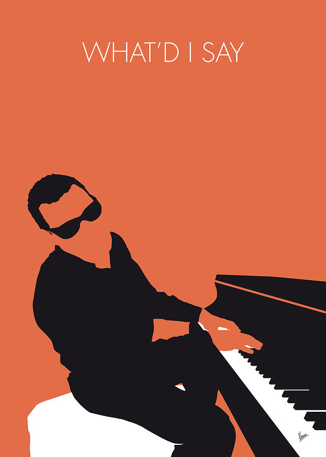 No003 my ray charles minimal music poster digital art by for Music minimal art