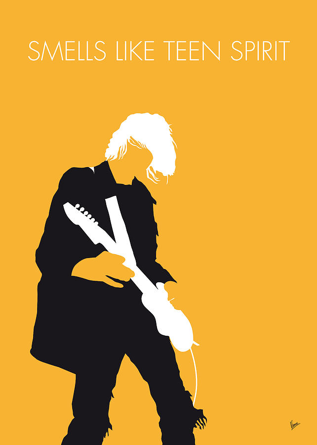 No004 my nirvana minimal music poster digital art by for Music minimal art