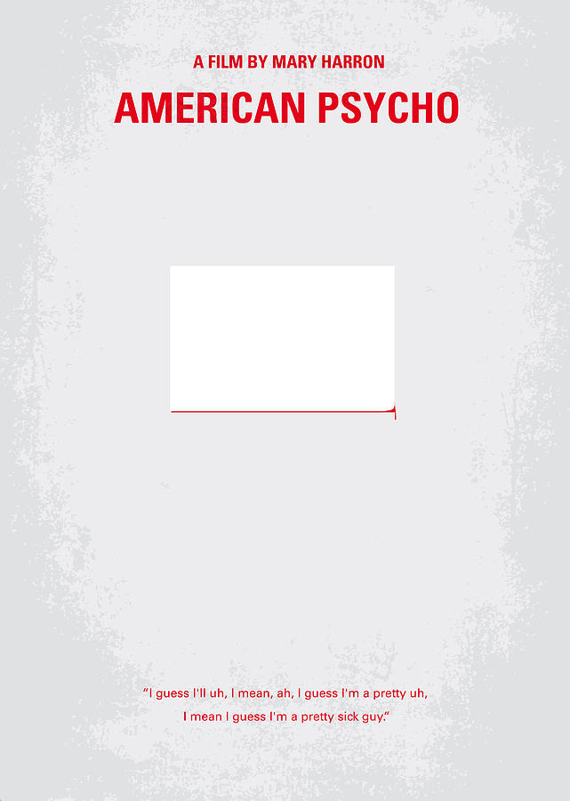 No005 My American Psyhco Minimal Movie Poster Digital Art