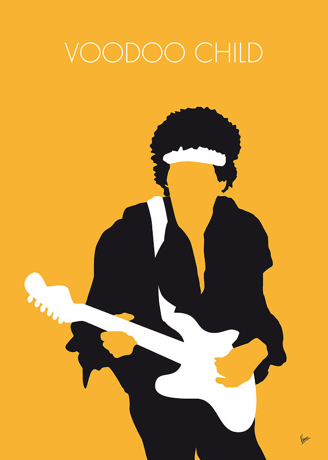No014 my jimi hendrix minimal music poster digital art by for Music minimal art
