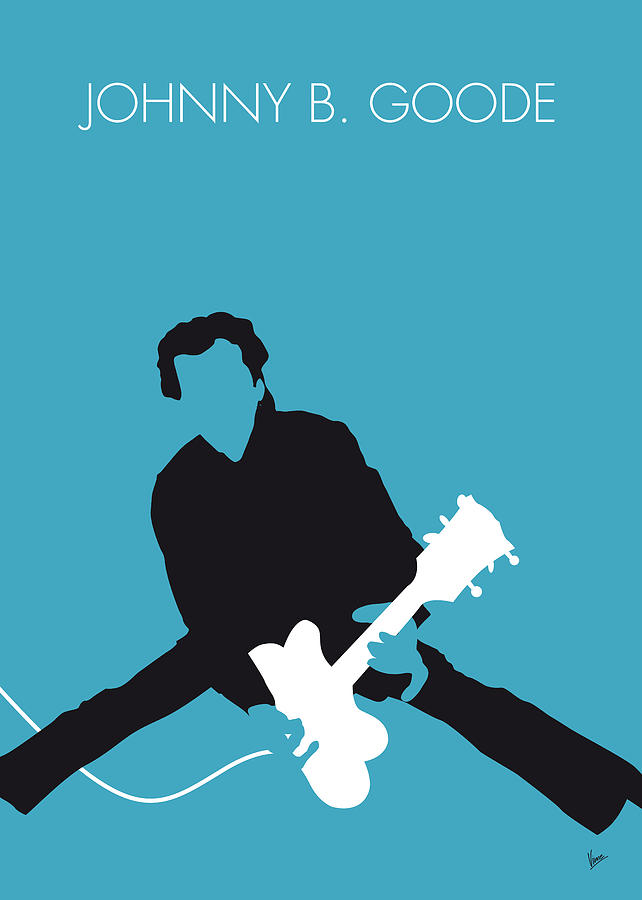 No015 my chuck berry minimal music poster digital art by for Music minimal art