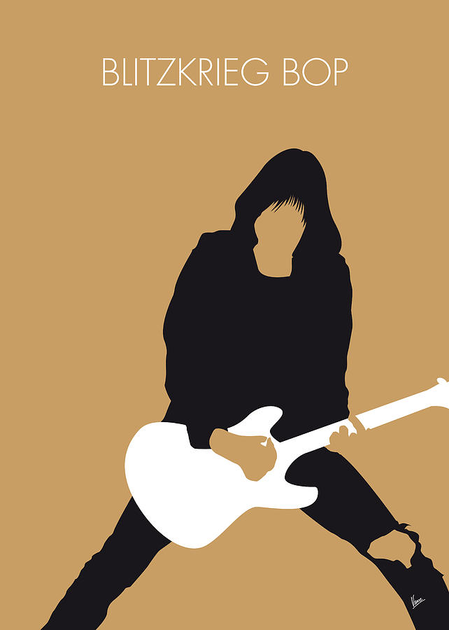No020 my ramones minimal music poster digital art by for Music minimal art