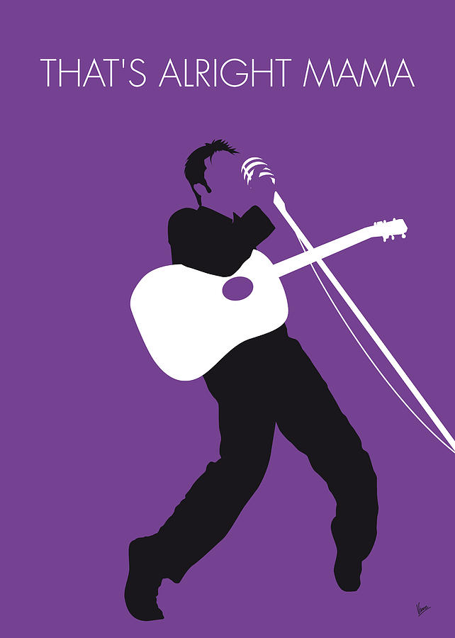 No021 my elvis minimal music poster digital art by for Music minimal art