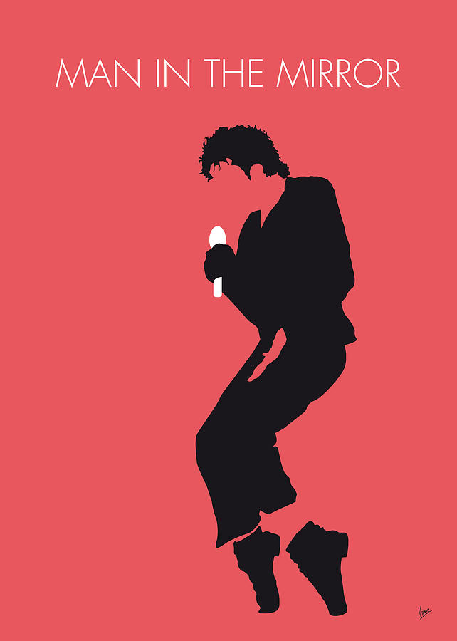 No032 my michael jackson minimal music poster digital art for Music minimal art