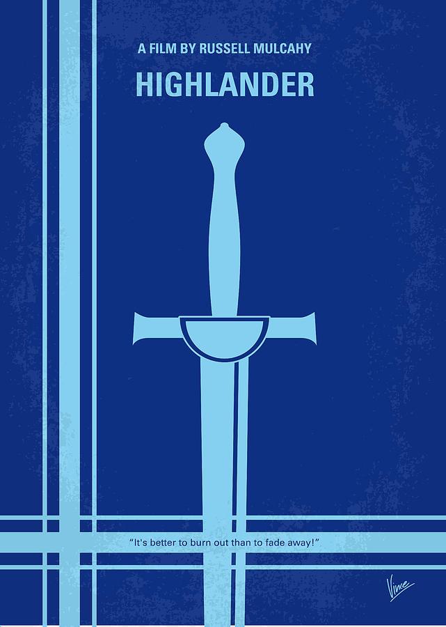 No034 My Highlander Minimal Movie Poster.jpg Digital Art