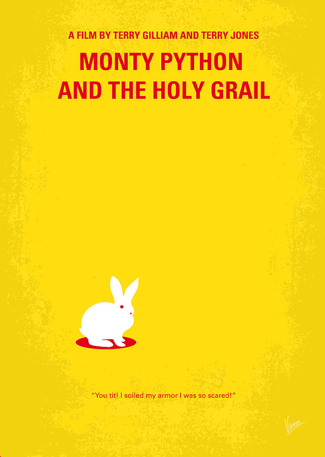 No036 My Monty Python And The Holy Grail Minimal Movie Poster Digital Art  - No036 My Monty Python And The Holy Grail Minimal Movie Poster Fine Art Print