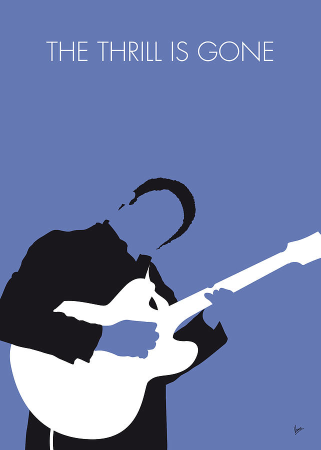No048 my bb king minimal music poster digital art by for Music minimal art