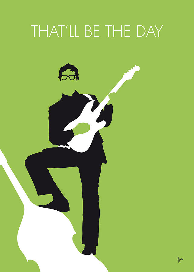 No056 my buddy holly minimal music poster digital art by for Music minimal art