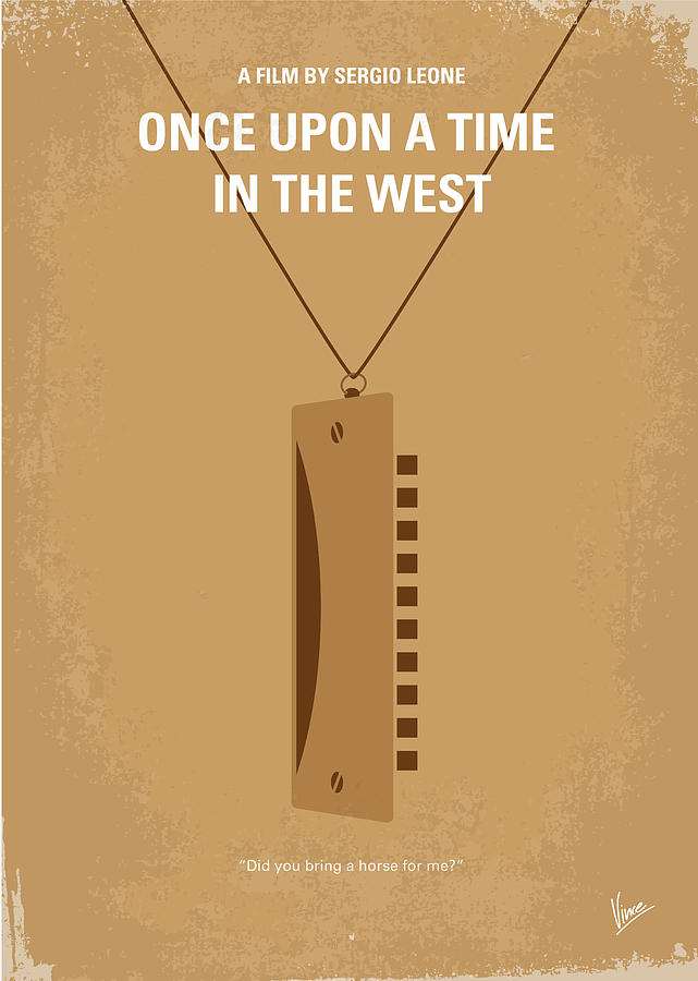 Once Digital Art - No059 My Once Upon A Time In The West Minimal Movie Poster by Chungkong Art