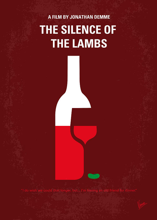 No078 My Silence Of The Lamb Minimal Movie Poster Digital Art  - No078 My Silence Of The Lamb Minimal Movie Poster Fine Art Print