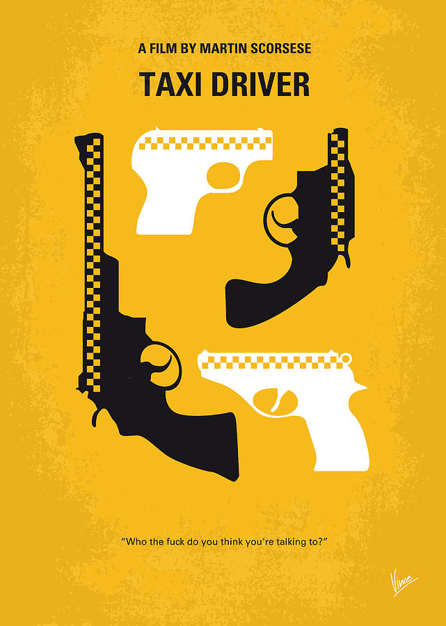 No087 My Taxi Driver Minimal Movie Poster Digital Art  - No087 My Taxi Driver Minimal Movie Poster Fine Art Print