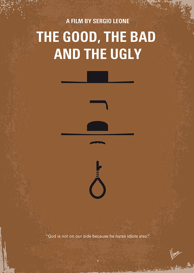 No090 My The Good The Bad The Ugly Minimal Movie Poster Digital Art