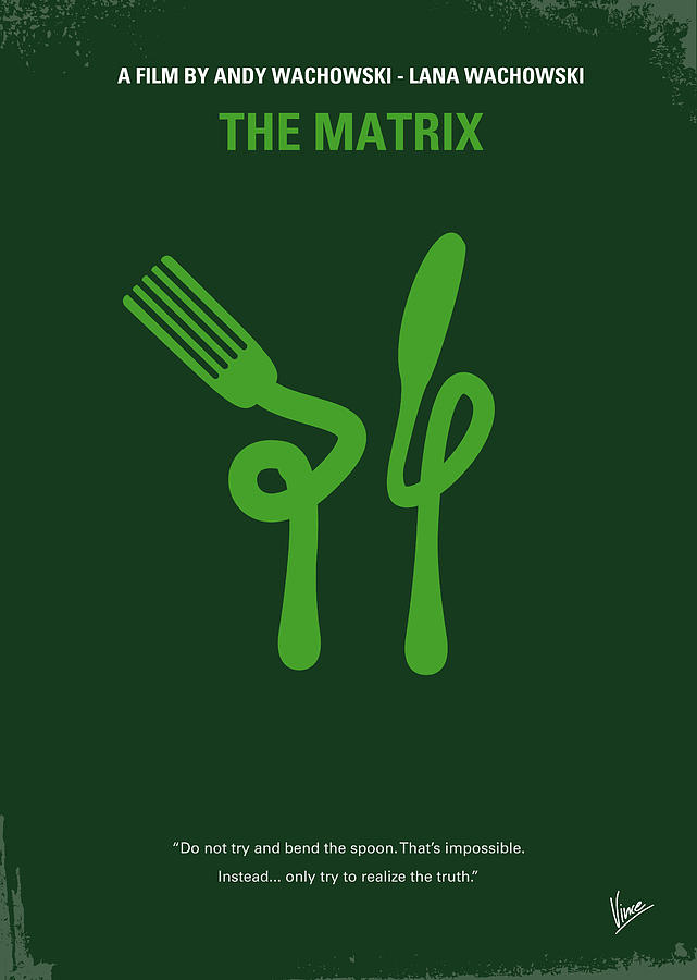 No093 My The Matrix Minimal Movie Poster Digital Art