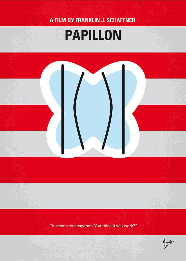 No098 My Papillon Minimal Movie Poster Digital Art