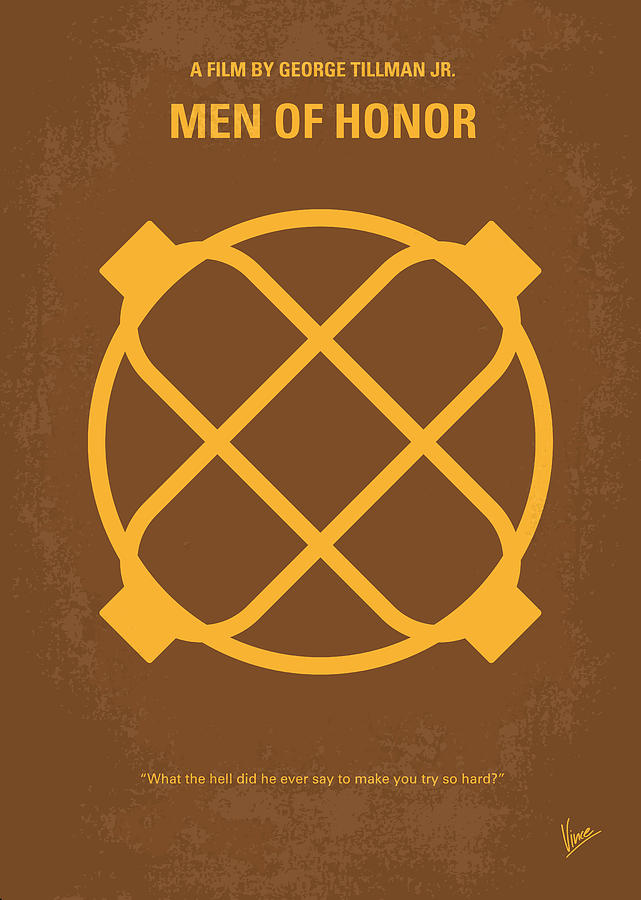No099 My Men Of Honor Minimal Movie Poster Digital Art